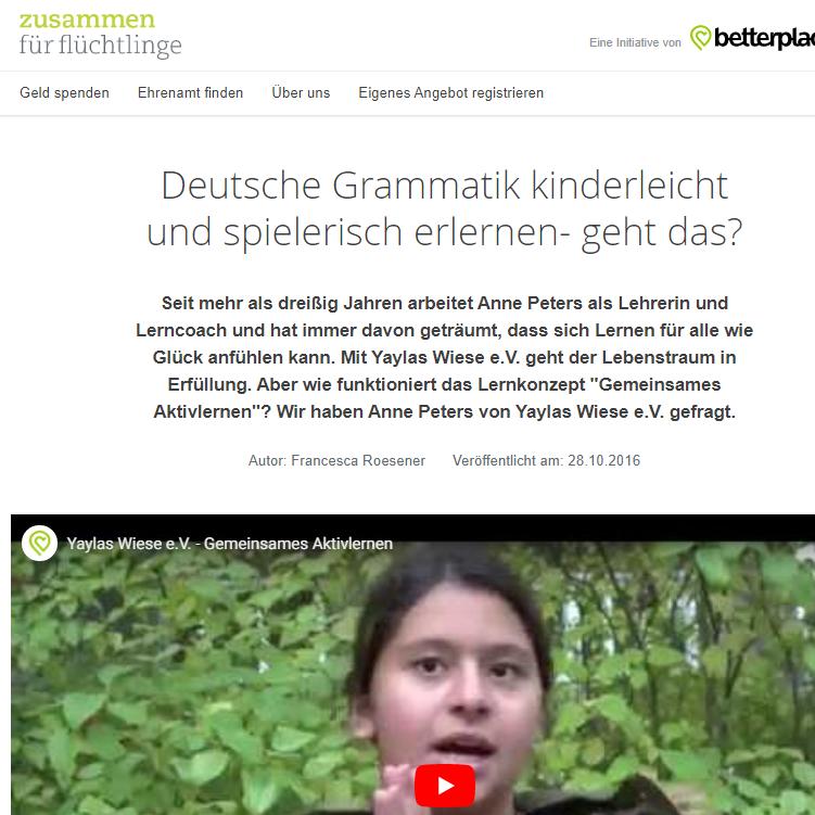 """Interview von """"zusammen für flüchtlinge"""""""